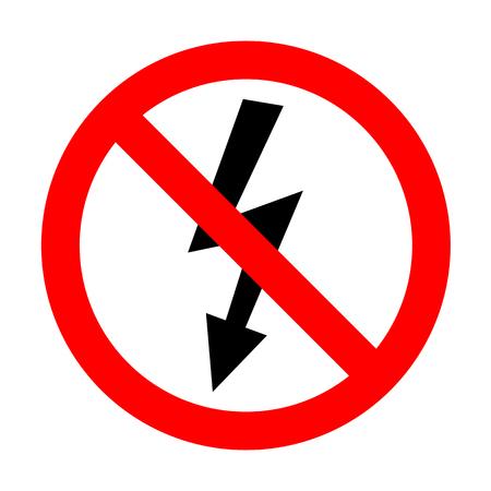 voltage danger: No High voltage danger sign. Illustration