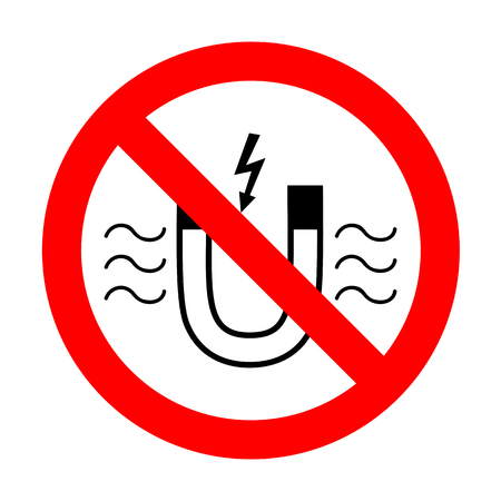 No Magnet with magnetic force indication. Illustration
