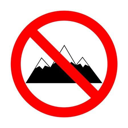 No Mountain sign illustration. Illustration
