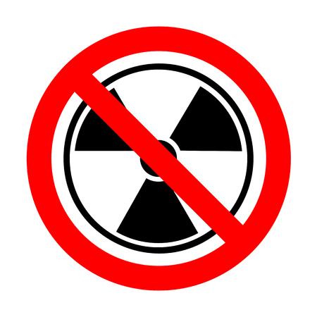 No Radiation Round sign.