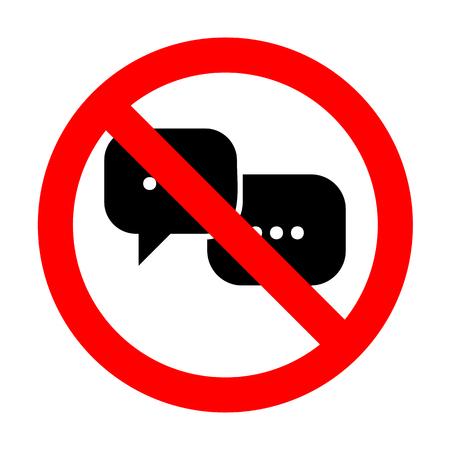 No Speech bubbles sign.