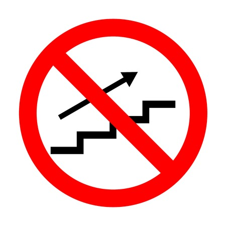 stair: No Stair with arrow. Illustration