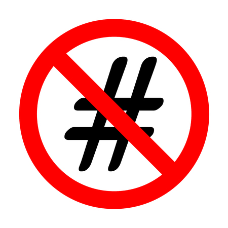 No Hashtag sign illustration. Illustration