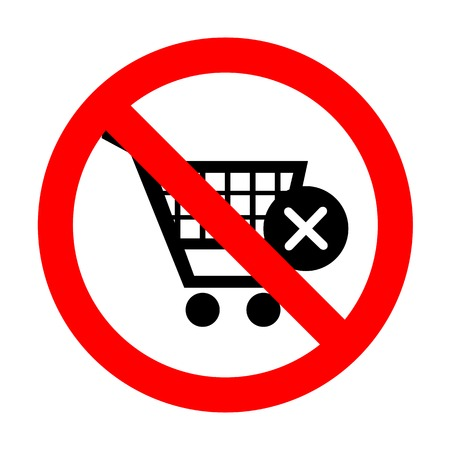 No Shopping Cart with delete sign.