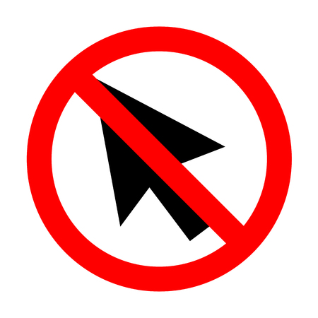 No Arrow sign illustration. Illustration