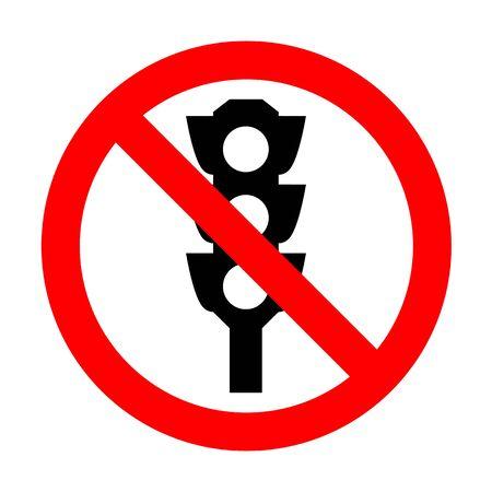 No Traffic light sign.