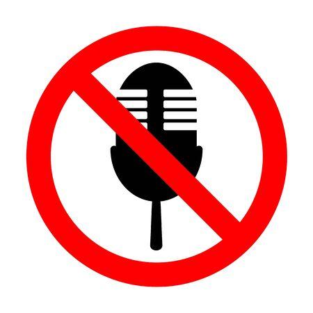 No Retro microphone sign.