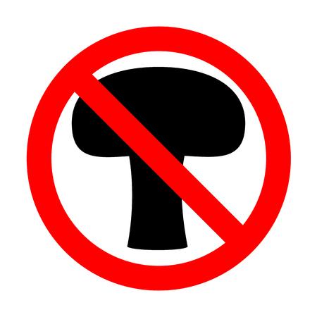 No Mushroom simple sign.