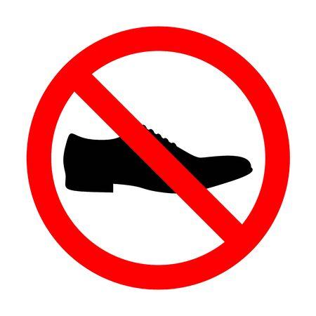 No Men Shoes sign.