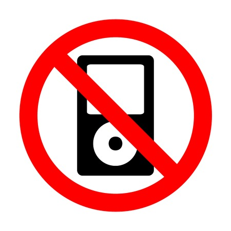 mp: No Portable music device. Illustration