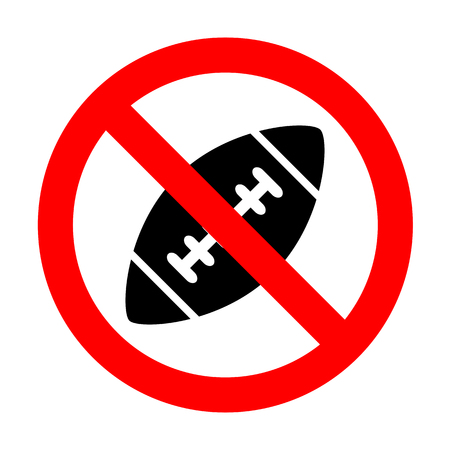 No American simple football ball.
