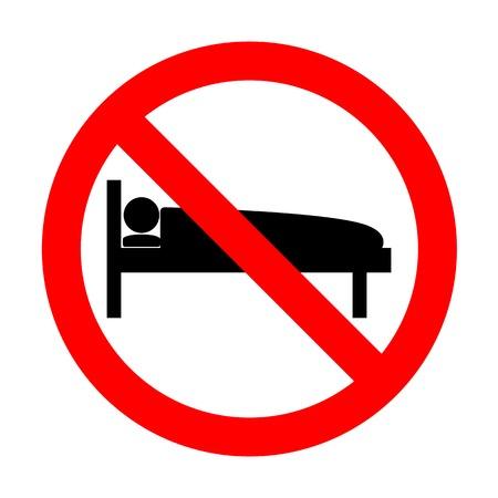 No Hospital sign illustration. Illustration