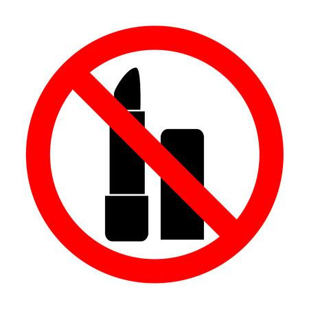 pomade: No Pomade simple sign. Illustration