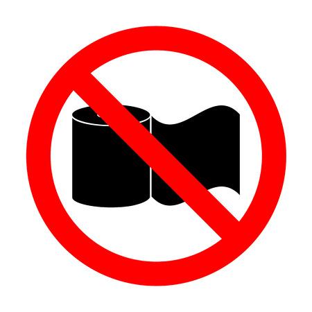 No Toilet Paper sign.