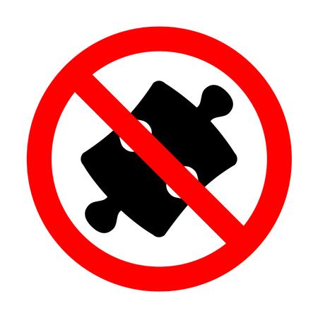 piece: No Puzzle piece sign.