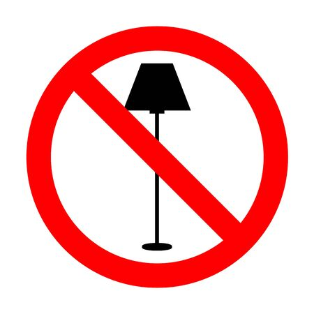 No Lamp simple sign.