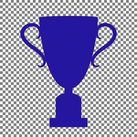 champ: Champions Cup sign. Blue icon on transparent background.