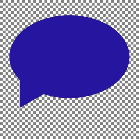 illustrates: Speech bubble icon. Blue icon on transparent background. Illustration