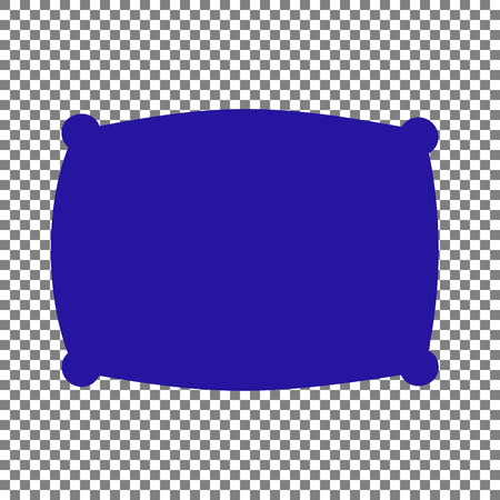 softy: Pillow sign illustration. Blue icon on transparent background.