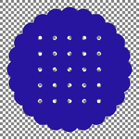scone: Pyramid sign illustration. Blue icon on transparent background.