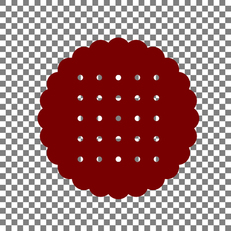 scone: Pyramid sign illustration. Maroon icon on transparent background.