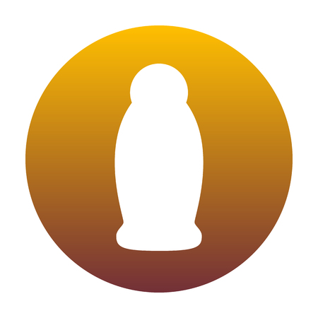 plastico pet: Gel, Foam Or Liquid Soap. Dispenser Pump Plastic Bottle silhouette. White icon in circle with golden gradient as background. Isolated.