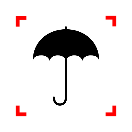 nylon: Umbrella sign icon. Rain protection symbol. Flat design style. B