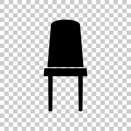 Office chair sign. Black icon on transparent background.