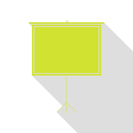 flat screen: Blank Projection screen. Pear icon with flat style shadow path. Illustration