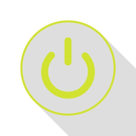 On Off switch sign. Pear icon with flat style shadow path. Illustration
