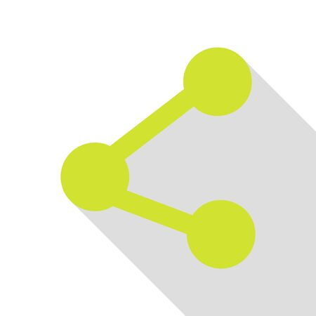 Share sign illustration. Pear icon with flat style shadow path.