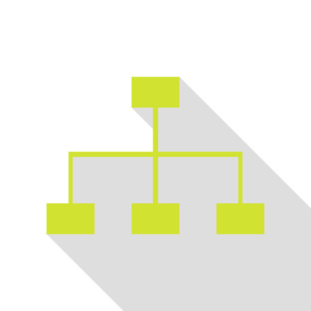 Site map sign. Pear icon with flat style shadow path.