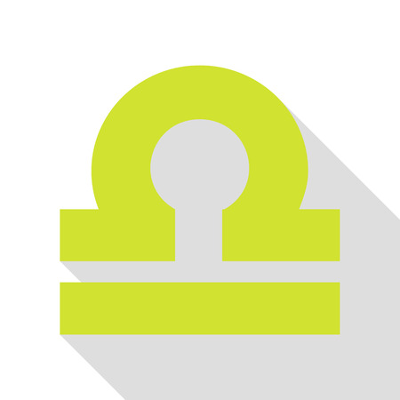 Libra sign illustration. Pear icon with flat style shadow path.