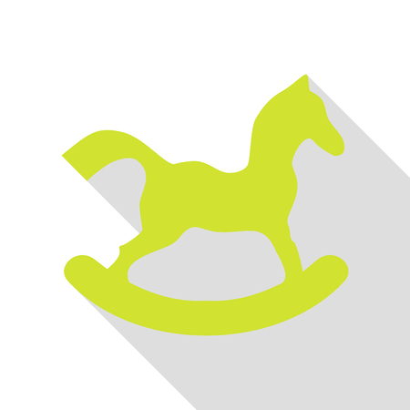 Horse toy sign. Pear icon with flat style shadow path.