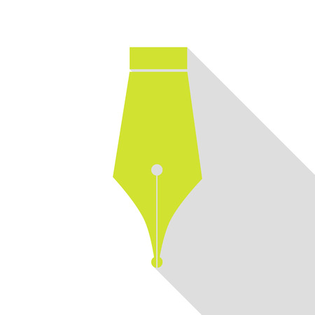 Pen sign illustration. Pear icon with flat style shadow path.
