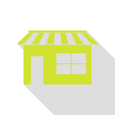Store sign illustration. Pear icon with flat style shadow path. Illustration