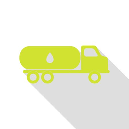 Car transports Oil sign. Pear icon with flat style shadow path. Illustration
