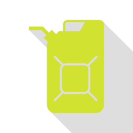 Jerrycan oil sign. Jerry can oil sign. Pear icon with flat style shadow path. Illustration