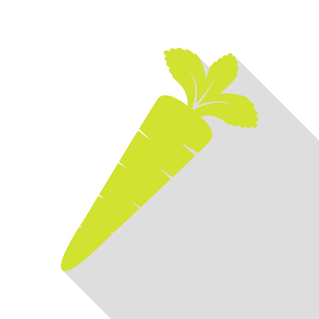 delectable: Carrot sign illustration. Pear icon with flat style shadow path.