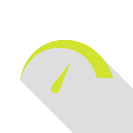 Speedometer sign illustration. Pear icon with flat style shadow path.