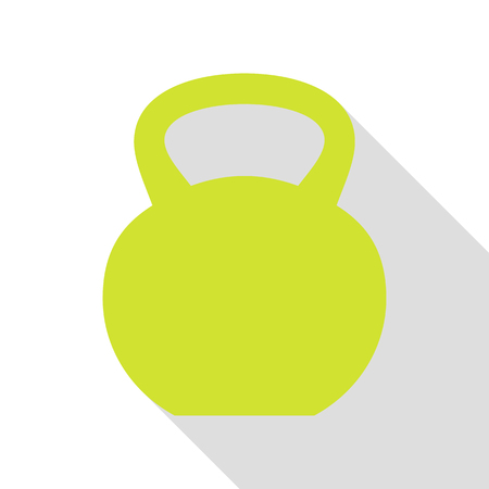 Fitness Dumbbell sign. Pear icon with flat style shadow path. Illustration
