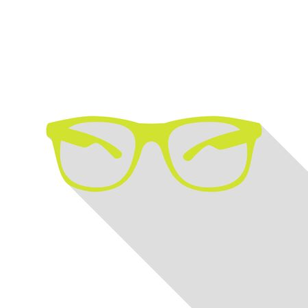 tinted: Sunglasses sign illustration. Pear icon with flat style shadow path.