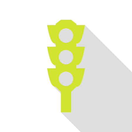 Traffic light sign. Pear icon with flat style shadow path.