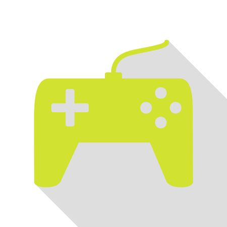 Joystick simple sign. Pear icon with flat style shadow path. Illustration
