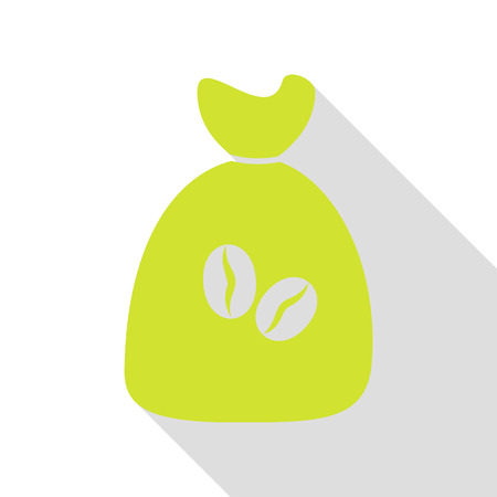Coffee bag Icon. Coffee bag Vector. Coffee bag Icon Button. Pear icon with flat style shadow path.