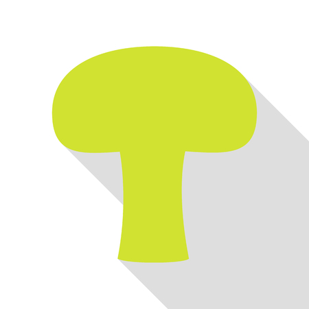 Mushroom simple sign. Pear icon with flat style shadow path.