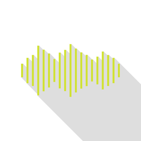 frequency: Sound waves icon. Pear icon with flat style shadow path.