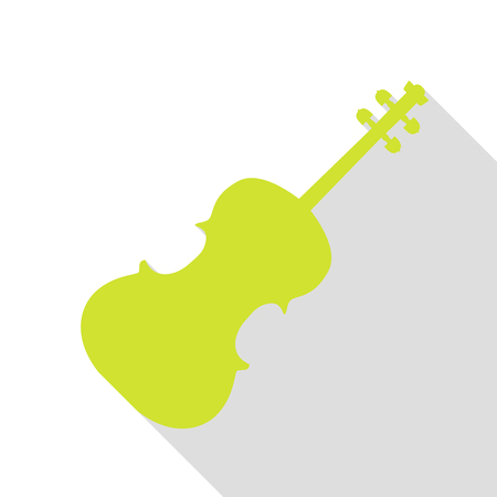 Violine sign illustration. Pear icon with flat style shadow path.