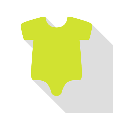 Baby sign illustration. Pear icon with flat style shadow path. Illustration