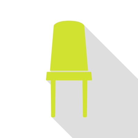 Office chair sign. Pear icon with flat style shadow path. Illustration